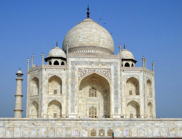 Tadj Mahal is made of stone