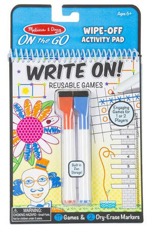 Write-On Reusable Games - Pink Possum