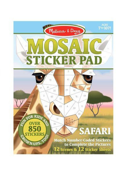 Mosaic Sticker Pad- Safari - Pink Possum