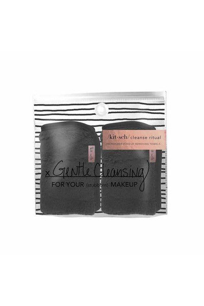 Black Microfiber Makeup Removing Towel