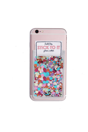 Multi Confetti Phone Card Holder