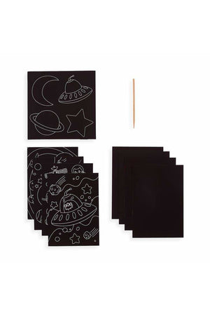 Large Scratch and Scribble Art Kit - 10 PC