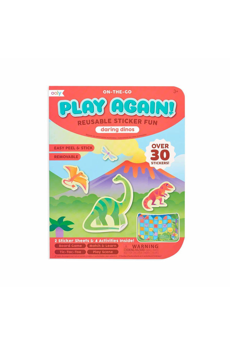 Play Again! Mini On-The-Go Activity Kit - Daring Dinos
