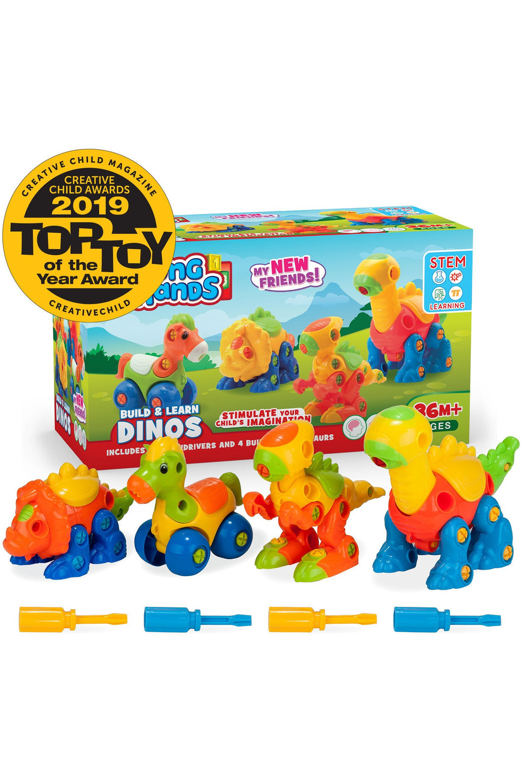 Build & Learn Dinosaur Toy Set