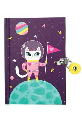 Space Cat Glow-in-the-Dark Diary
