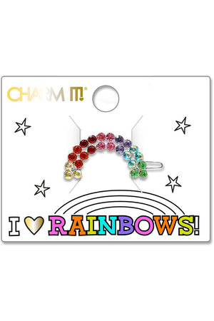 Charm It! Rhinestone Rainbow Barrette - Pink Possum