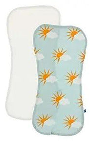 Spring Sky Partial Sun and Natural Burp Cloth Set