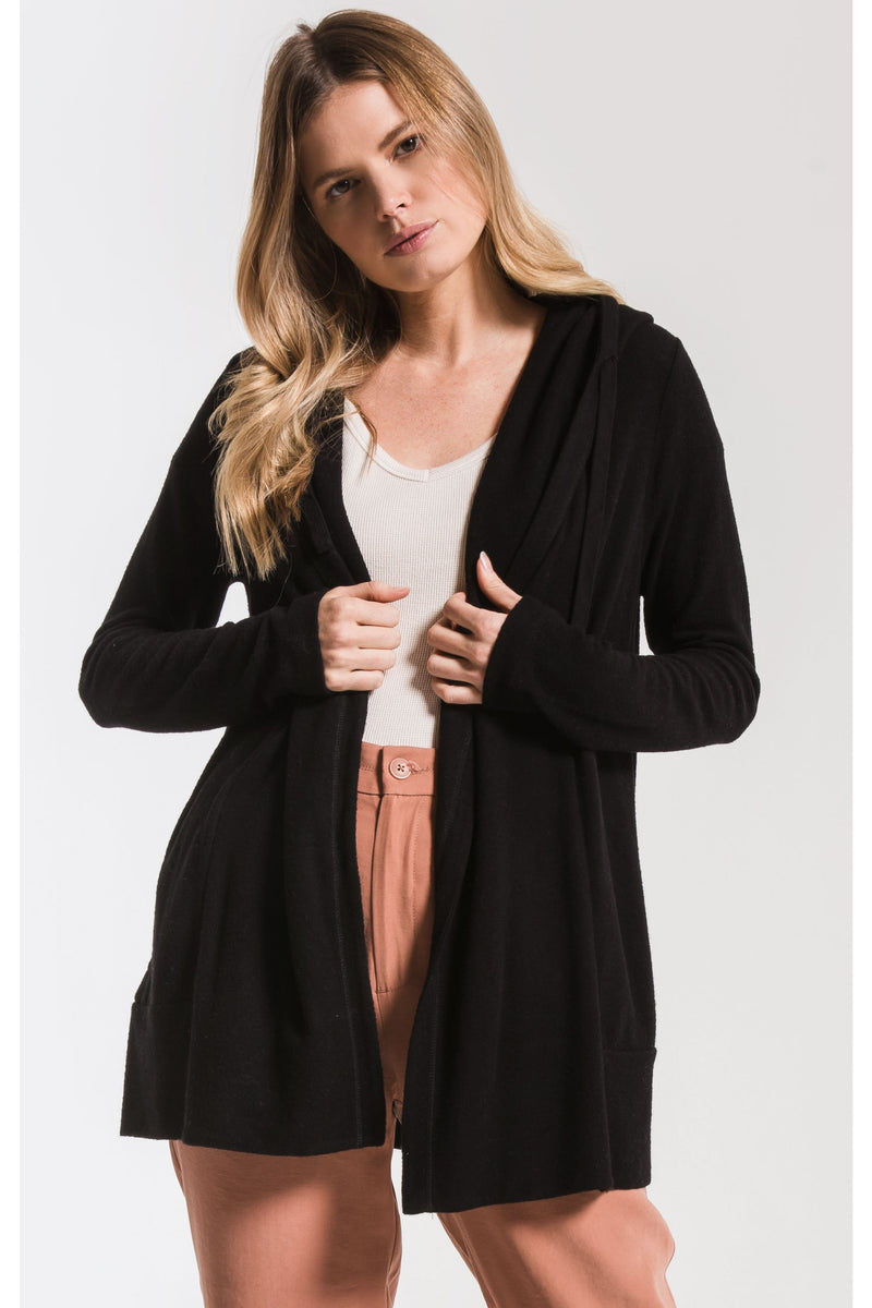 The Sweater Knit Cardigan- Black