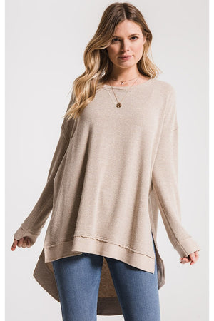 The Triblend Vacay Pullover- Simply Taupe