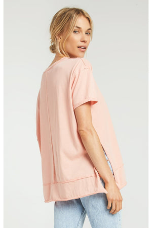 The Pali Tunic Tee- Coral Almond