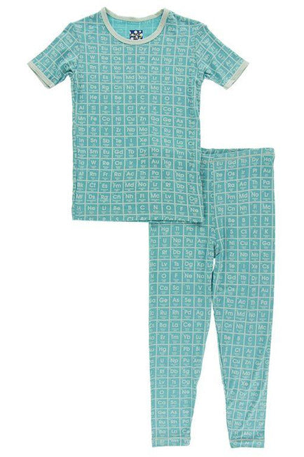 Neptune Elements Print Short Sleeve Pj Set - Pink Possum