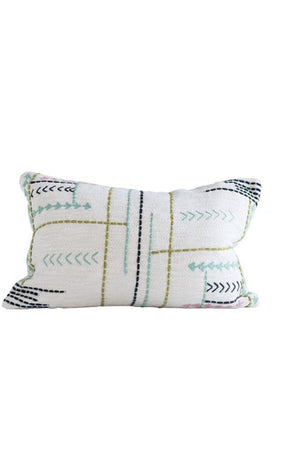 Bungalow Embroidered Throw Pillow