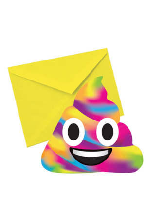 Rainbow Poop Strawberry Scented Notecards