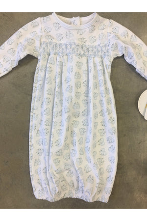 Vintage Elephant smocked gown