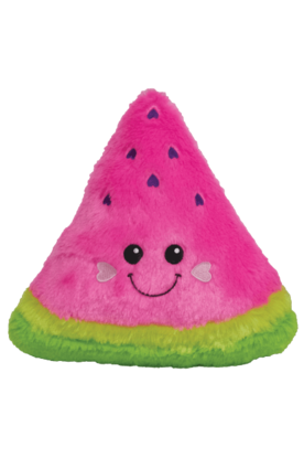 Watermelon Scented Furry Pillow - Pink Possum