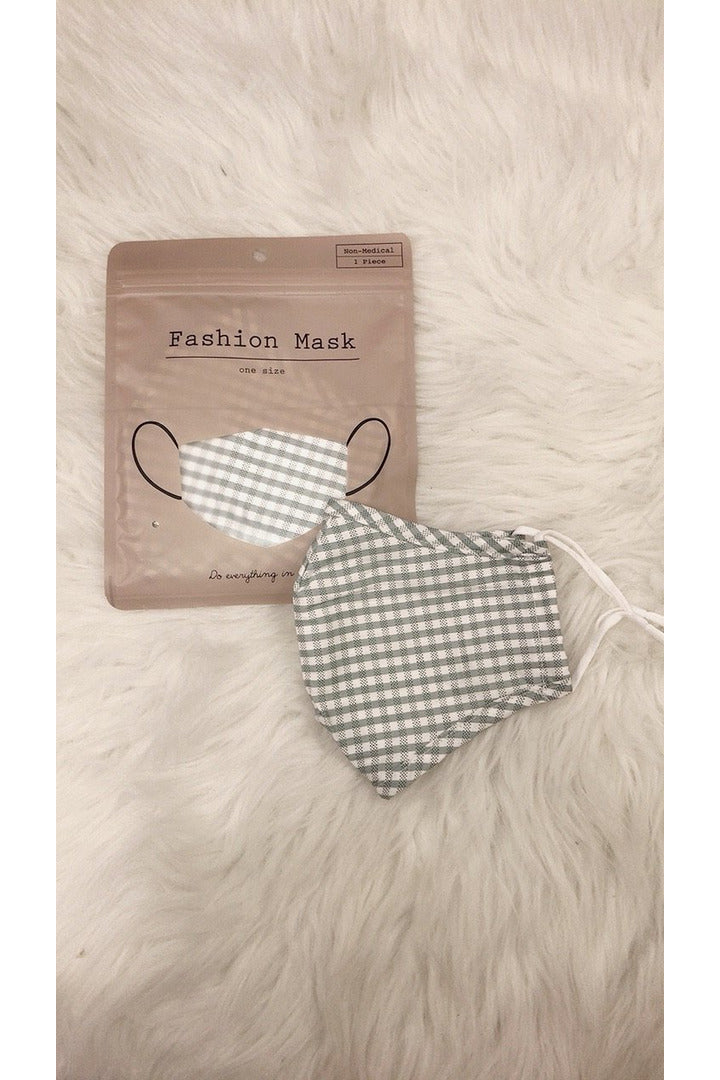 Plaid Face Mask