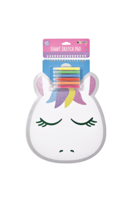 Unicorn Giant Sketch Pad - Pink Possum