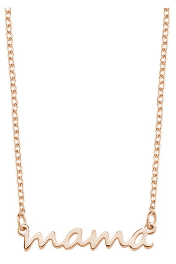 Mama Dainty Necklace - Pink Possum