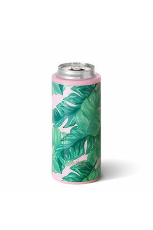 Palm Springs 12 oz Skinny Can Cooler - Pink Possum