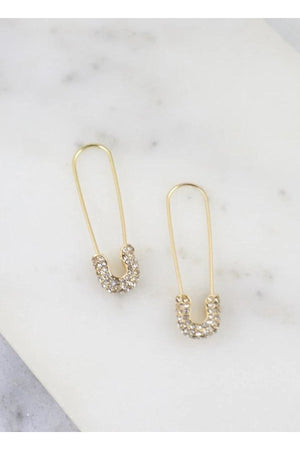 Trinity Safety Pin Earrings