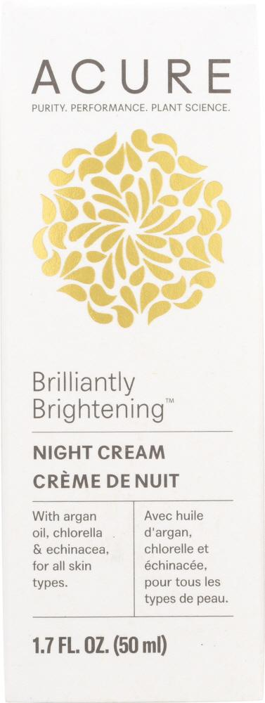 ACURE Brilliantly Brightening Night Cream, 1.7 Oz