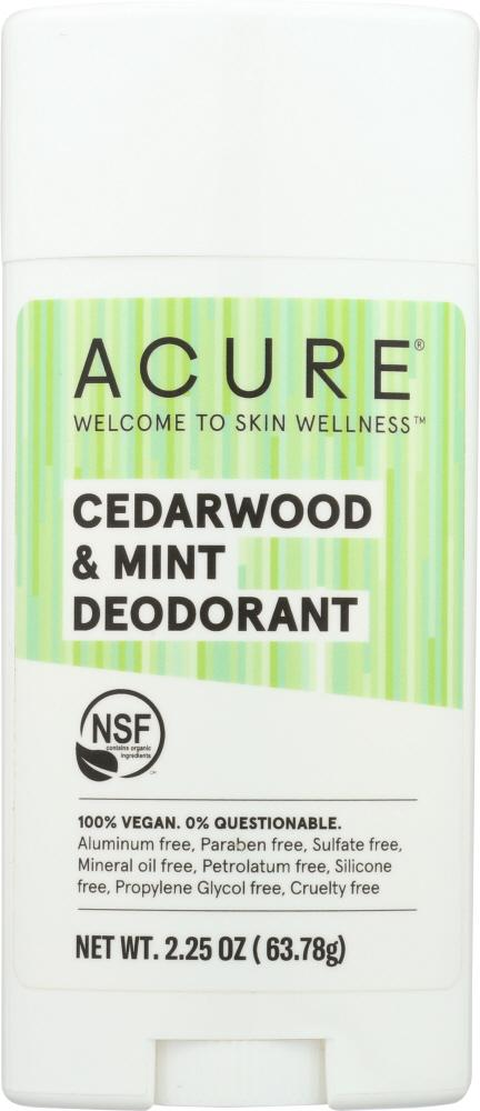 ACURE Deodorant Cedarwood Mint, 2.25 Oz