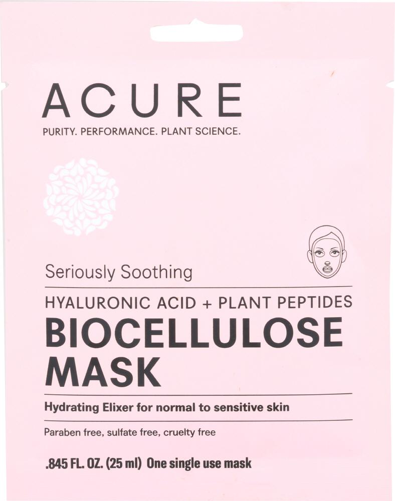 ACURE Seriously Soothing Biocellulose Facial Gel Mask, 1 Ea