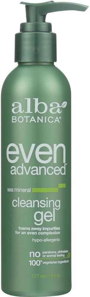 ALBA BOTANICA Even Advanced Cleansing Gel Sea Mineral, 6 Oz