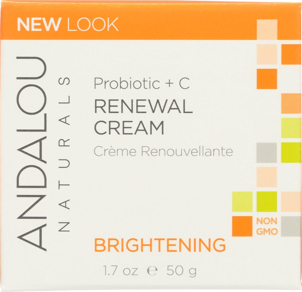 ANDALOU NATURALS Renewal Cream Probiotic + C Brightening, 1.7 Oz