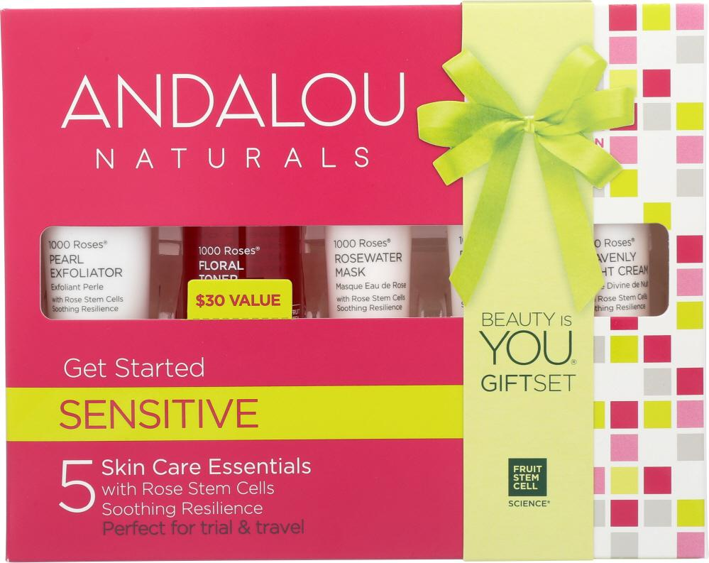 ANDALOU NATURALS Sensitive Get Started Kit, 5 Pc