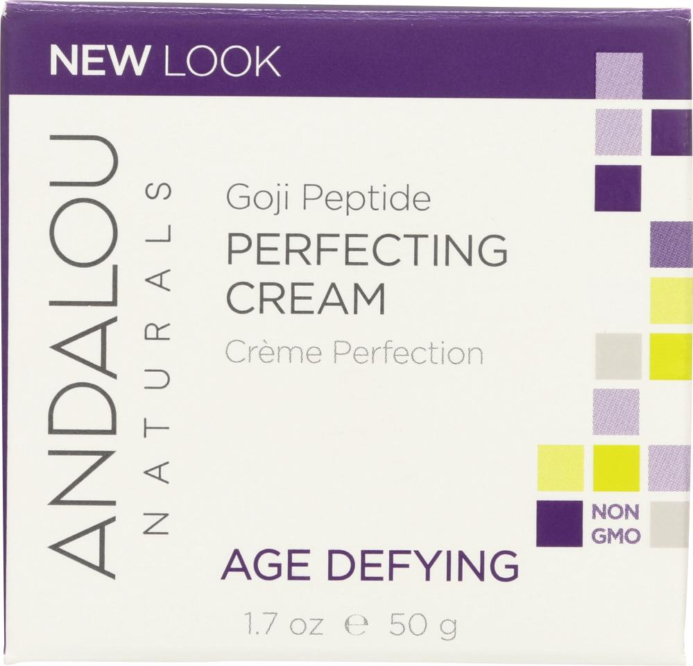 ANDALOU NATURALS Super Goji Peptide Perfecting Cream Age Defying, 1.7 Oz