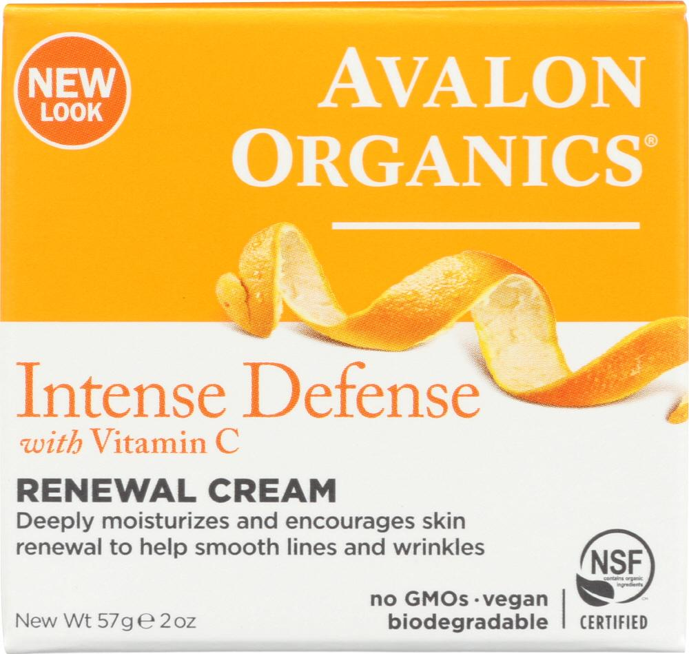 AVALON ORGANICS Intense Defense Vitamin C Renewal Cream, 2 Oz