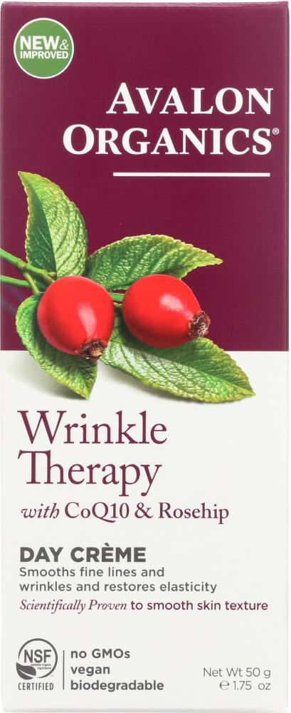 AVALON ORGANICS Wrinkle Therapy With Coq10 & Rosehip Day Creme, 1.75 Oz