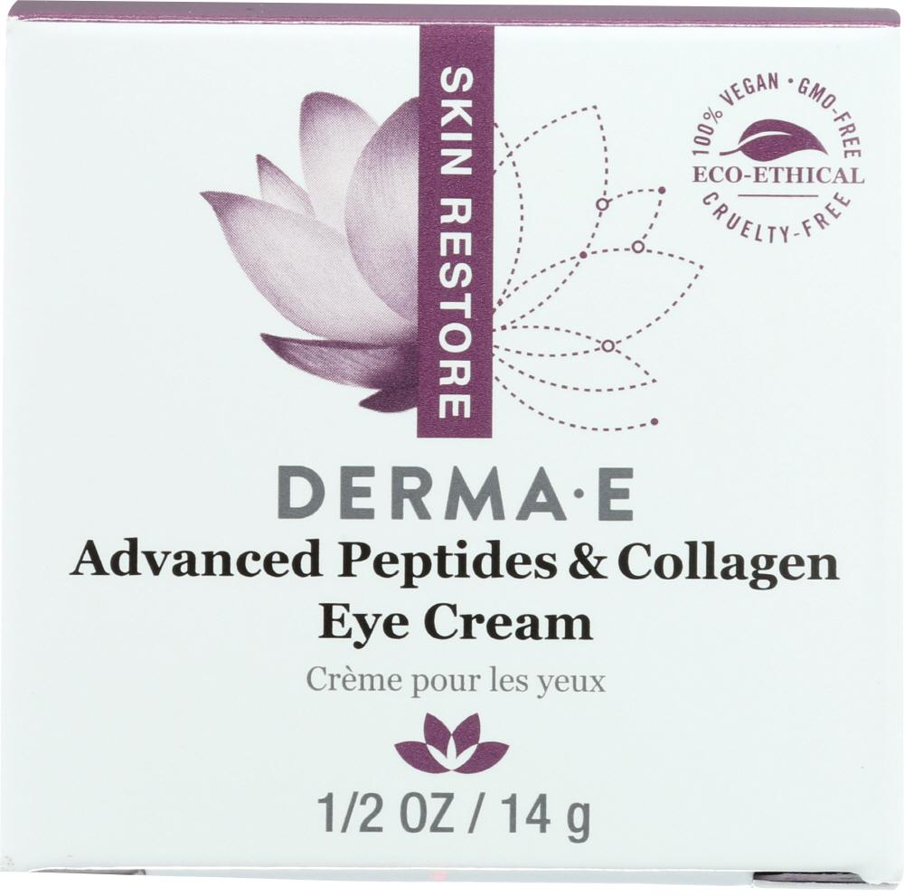 DERMA E Deep Wrinkle Reverse Eye Creme With Peptides Plus, 0.5 Oz