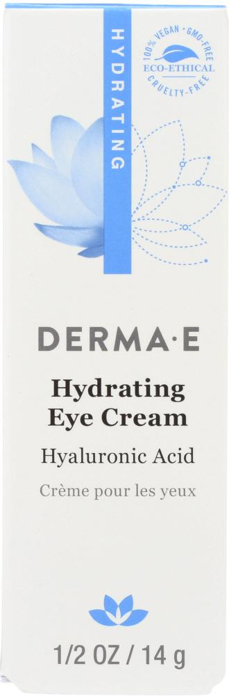 DERMA E Hydrating Eye Cream With Hyaluronic Acid And Pycnogenol, 0.5 Oz
