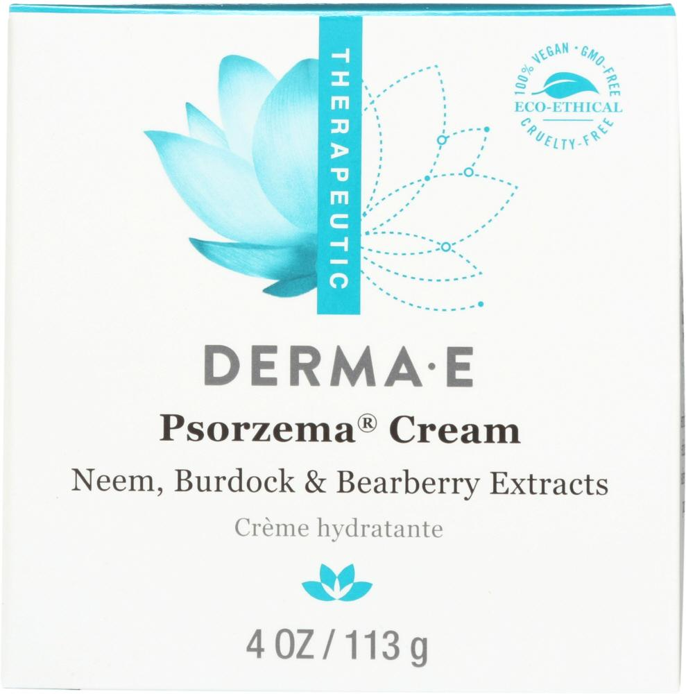 DERMA E Psorzema Natural Relief Creme For Scaling Flaking And Itching, 4 Oz