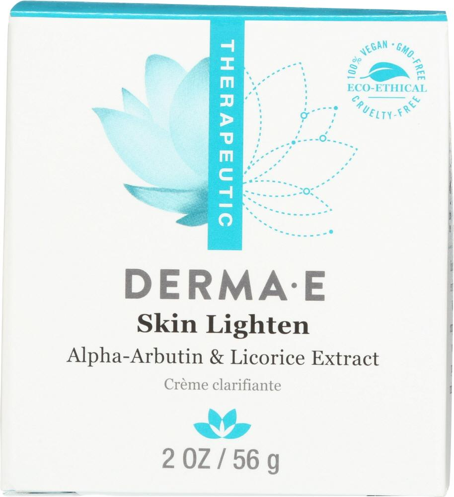 DERMA E Skin Lighten Natural Fade And Age Spot Creme, 2 Oz