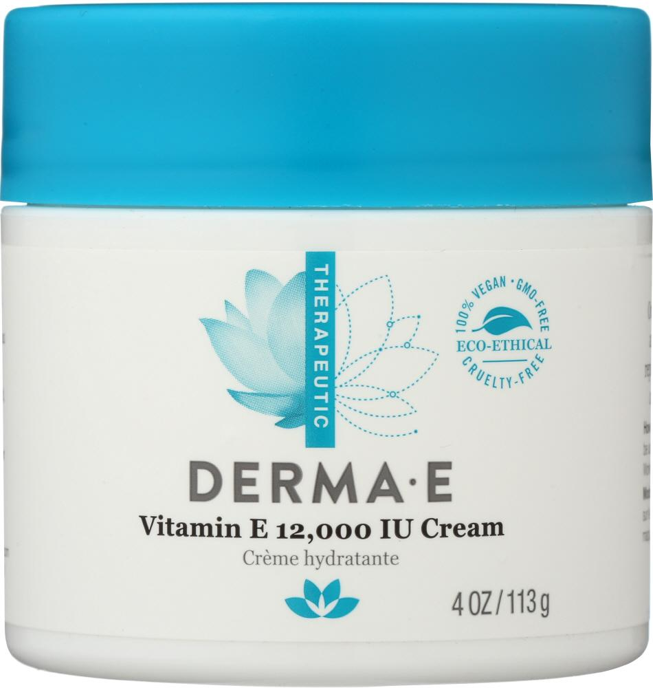 DERMA E Vitamin E 12000 Iu Cream, 4 Oz