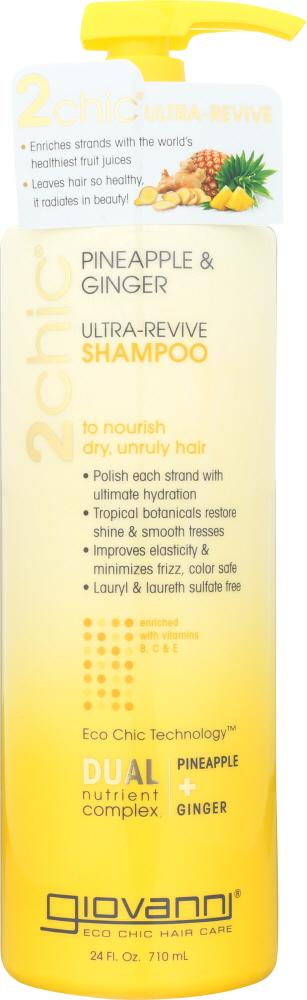 GIOVANNI Pineapple + Ginger Ultra-Revive Shampoo, 24oz