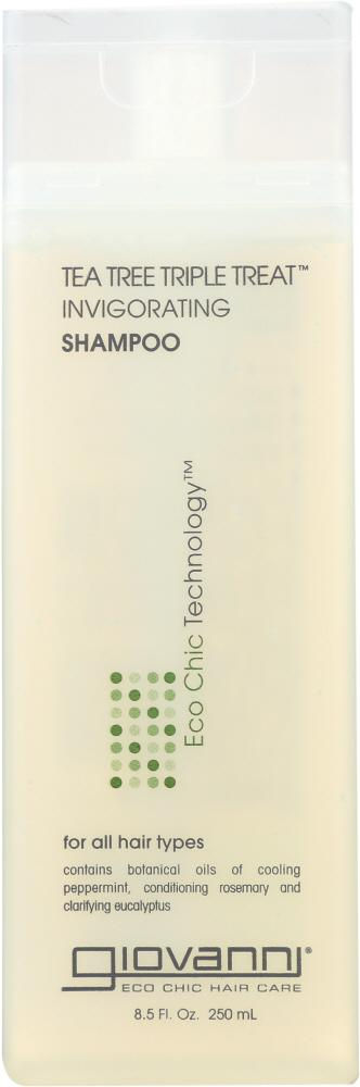 GIOVANNI Tea Tree Triple Treat Invigorating Shampoo, 8.5 Oz