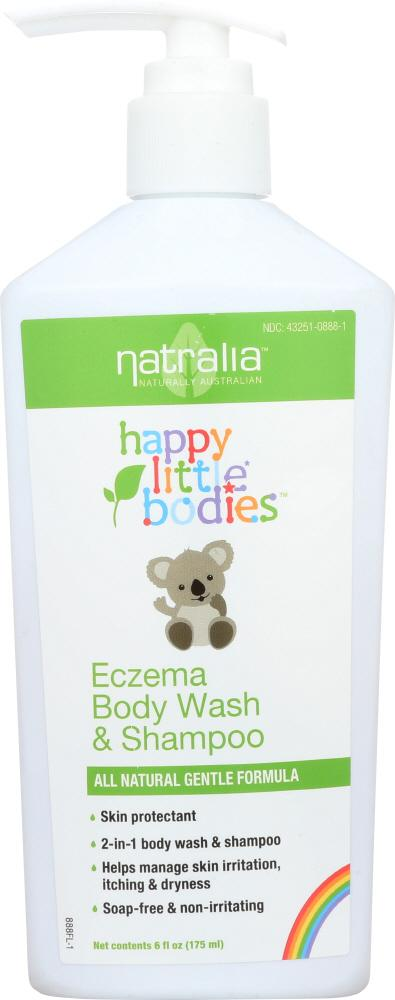 NATRALIA Happy Little Bodies Eczema Body Wash & Shampoo, 6 Oz