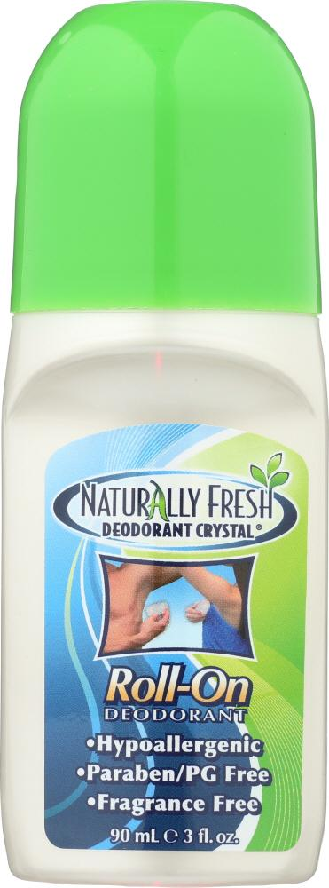 NATURALLY FRESH Deodorant Crystal Roll-On Fragrance Free, 3 Oz