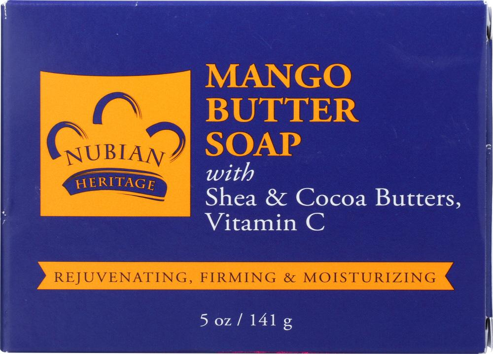 NUBIAN HERITAGE Bar Soap Mango Butter With Shea And Cocoa Butters And Vitamin C, 5 Oz
