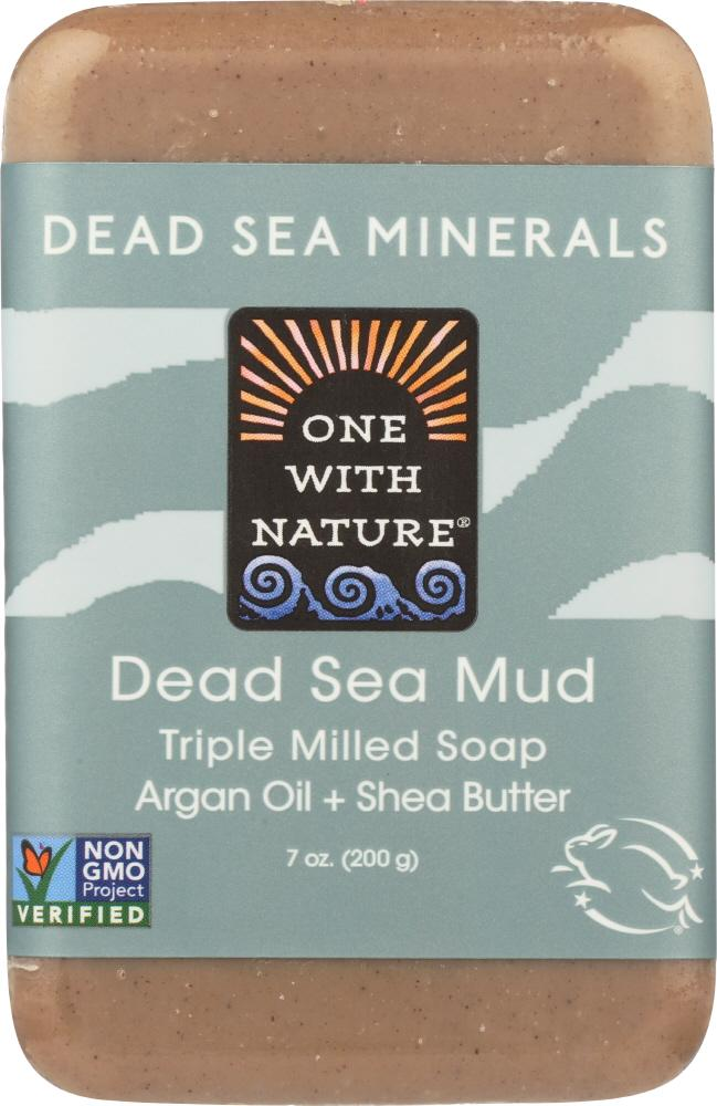 ONE WITH NATURE Dead Sea Mud Minerals Soap Bar, 7 Oz