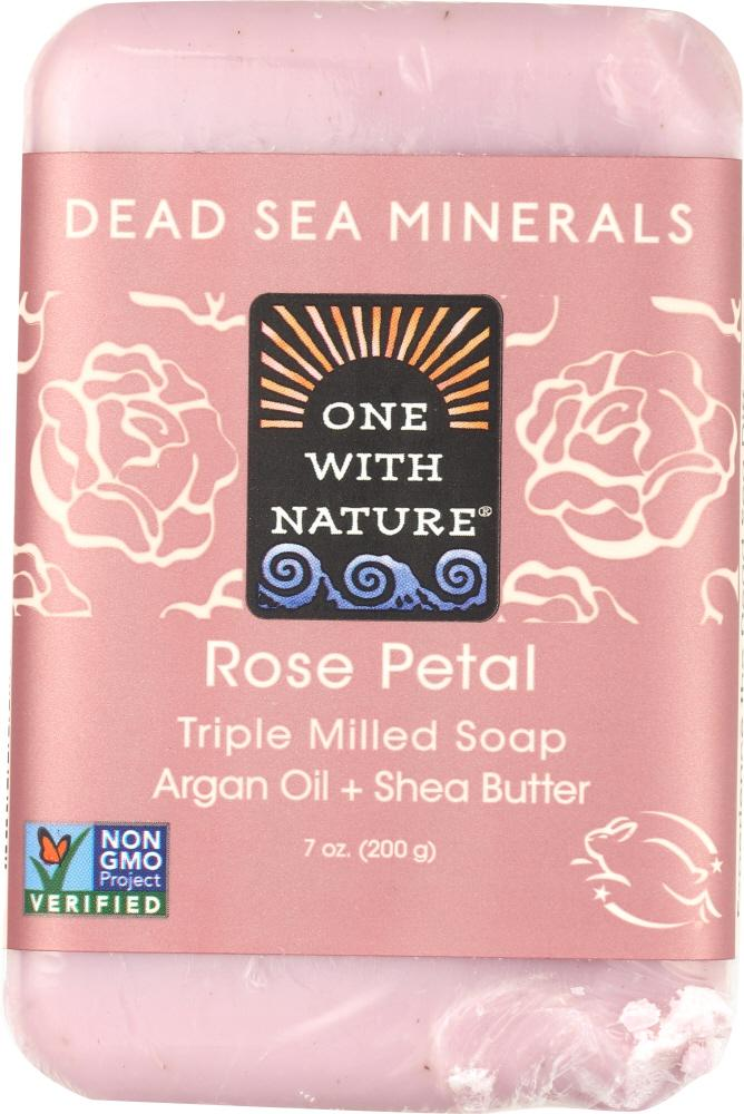 ONE WITH NATURE Rose Petal Soap Bar, 7 Oz