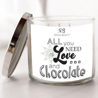 Radha Beauty All You Need is Love...and Chocolate - Scented Candle