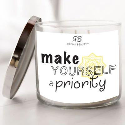 Radha Beauty Make Yourself a Priority - Scented Candle