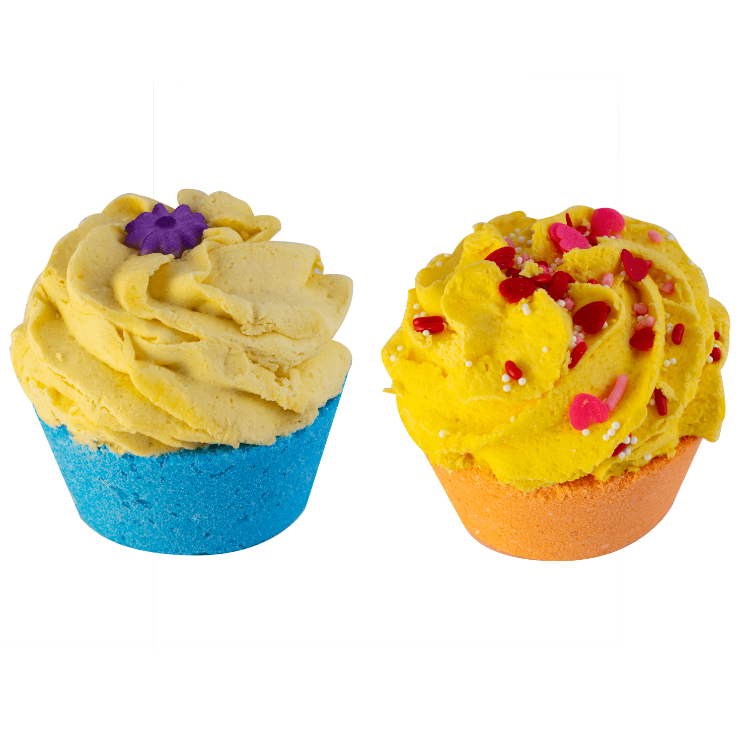 Radha Beauty Coconut/Shanana Combo Two Piece Bath Bomb Cupcake Combos