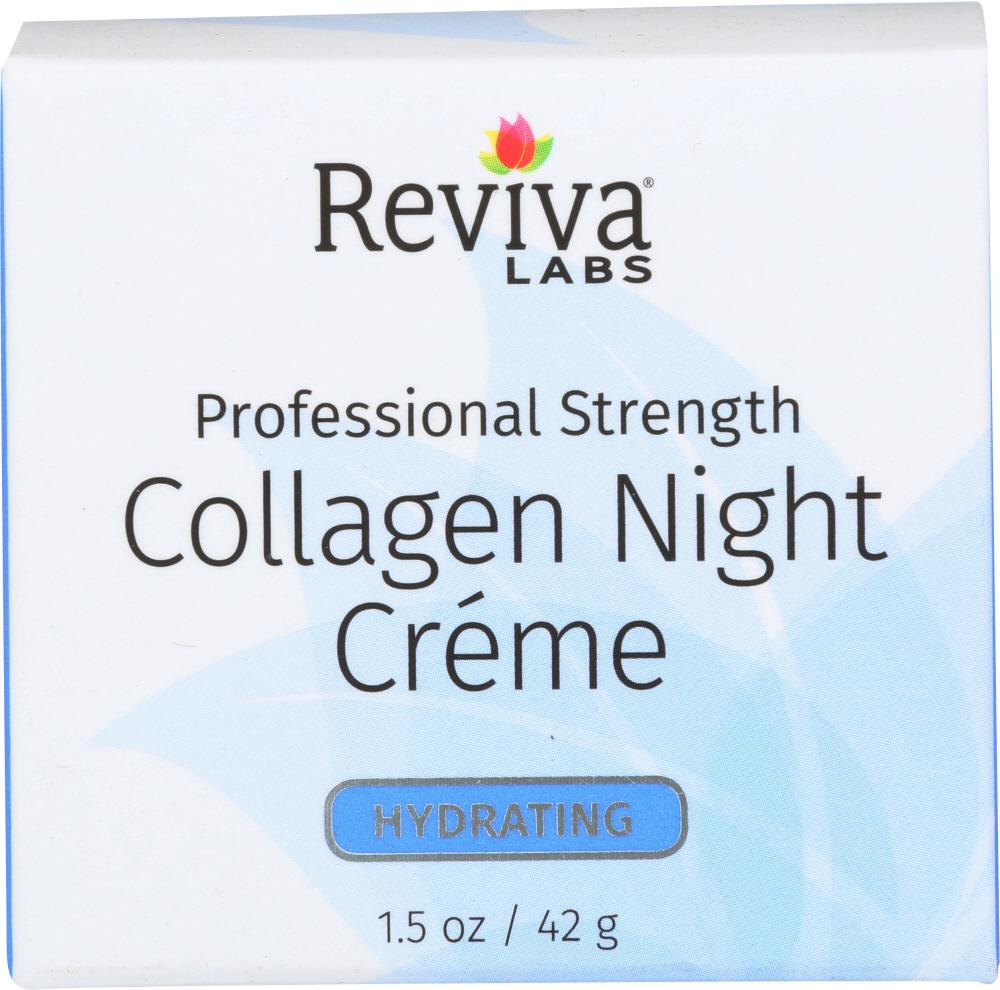REVIVA LABS Collagen Night Cream, 1.5 Oz