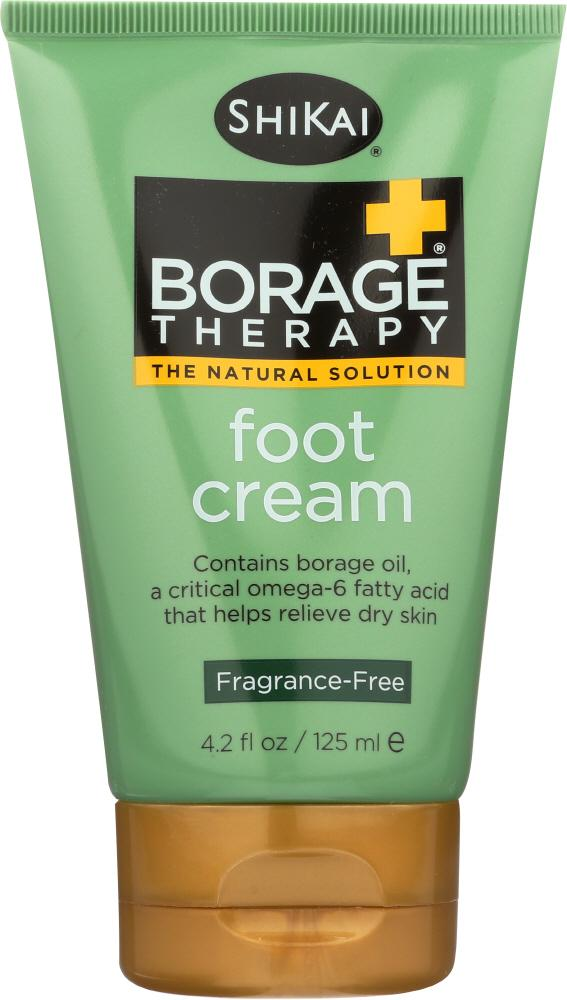 SHIKAI Borage Therapy Foot Cream Unscented, 4.2 Oz